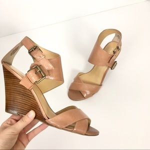 Nine West Mistress Wedge Sandals in Tan